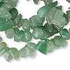 Bead, green aventurine (natural), medium chip, Mohs hardness 7. Sold per 36-inch strand.