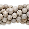 Bead, grey feldspar (natural), 8mm round, C grade, Mohs hardness 6 to 6-1/2. Sold per pkg of (10) 16-inch strands.