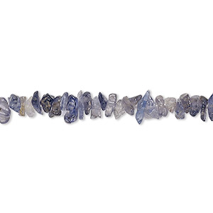 Bead, iolite (dyed), small chip, Mohs hardness 7 to 7-1/2. Sold per 18-inch strand.