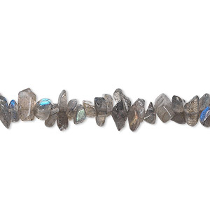 Bead, labradorite (natural), mini chip, Mohs hardness 6 to 6-1/2. Sold per 36-inch strand.