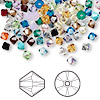 Bead mix, Swarovski crystal, Crystal Passions®, mixed colors, 4mm Xilion bicone (5328). Sold per pkg of 48.