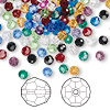 Bead mix, Swarovski crystal, Crystal Passions®, mixed colors, 4mm faceted round (5000). Sold per pkg of 144 (1 gross).