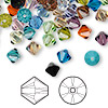 Bead mix, Swarovski crystal, Crystal Passions®, mixed colors, 6mm Xilion bicone (5328). Sold per pkg of 144 (1 gross).