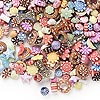 Bead mix, acrylic, multicolored, 6x4mm-18x13mm mixed shapes. Sold per pkg of 1/4 pound, approximately 750 beads.