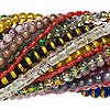Bead mix, glass, mixed colors, 4x3mm-18x17mm mixed shape. Sold per pkg of (25) 32-inch strands.