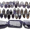 Bead mix, iolite  (natural), 6x4mm-31x14mm hand-cut mixed shape, Mohs hardness 7 to 7-1/2. Sold per pkg of (3) 8-inch strands.