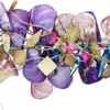 Bead mix, mother-of-pearl shell (dyed / natural), multicolored, 12-50mm assorted shape. Sold per pkg of ten 14 to 16-inch strands.