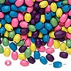 Bead mix, painted wood, mixed colors, 5x3mm oval. Sold per 90-gram pkg, approximately 3,600 beads.
