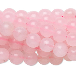 Bead, rose quartz (dyed), 8mm round, C grade, Mohs hardness 7. Sold per pkg of (10) 16-inch strands.