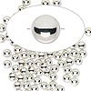 Bead, sterling silver-filled, 4mm seamless round. Sold per pkg of 1,000.