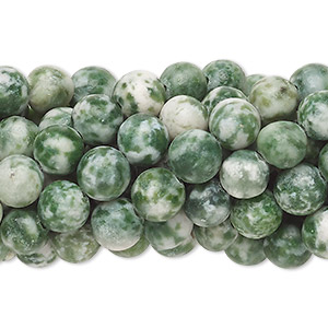 Bead, tree agate (natural), 6mm round, C grade, Mohs hardness 6-1/2 to 7. Sold per pkg of (10) 16-inch strands.