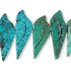 Bead, turquoise (dyed / stabilized), 20x8mm-27x12mm hand-carved bird, B grade, Mohs hardness 5 to 6. Sold per pkg of 6.
