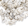 Bead, white howlite (natural), medium chip, Mohs hardness 3 to 3-1/2. Sold per 34-inch strand.