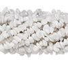 Bead, white marble (natural), medium chip, Mohs hardness 3. Sold per pkg of (10) 36-inch strands.