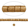 Bead, wood, light brown, 3x2mm-4x3mm heishi. Sold per pkg of (2) 24-inch strands.