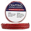 Beaded wire, Westrim®, glass and steel wire, silver-lined red, #11 seed beads. Sold per pkg of 5 yards.