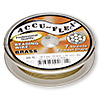 Beading wire, Accu-Flex®, 100% brass, 7 strand, 0.019-inch diameter. Sold per 30-foot spool.