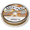 Beading wire, Accu-Flex®, 100% brass, 7 strand, 0.019-inch diameter. Sold per 100-foot spool.