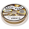 Beading wire, Accu-Flex®, 24Kt gold-plated, 49 strand, 0.019-inch diameter. Sold per 100-foot spool.