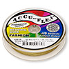 Beading wire, Accu-Flex®, Dijon gold, 49 strand, 0.014-inch diameter. Sold per 100-foot spool.