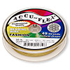 Beading wire, Accu-Flex®, Dijon gold, 49 strand, 0.024-inch diameter. Sold per 30-foot spool.
