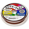 Beading wire, Accu-Flex®, brick red, 49 strand, 0.019-inch diameter. Sold per 100-foot spool.