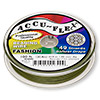 Beading wire, Accu-Flex®, khaki, 49 strand, 0.019-inch diameter. Sold per 100-foot spool.
