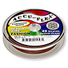 Beading wire, Accu-Flex®, nylon and stainless steel, brick red, 49 strand, 0.019-inch diameter. Sold per 30-foot spool.