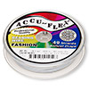 Beading wire, Accu-Flex®, nylon and stainless steel, snow white, 49 strand, 0.024-inch diameter. Sold per 30-foot spool.