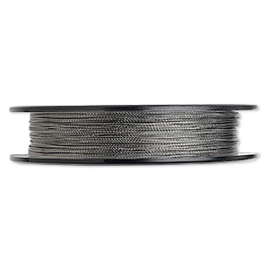 Beading wire, Tigertail™, nylon-coated stainless steel, clear, 3 strand, 0.015-inch diameter. Sold per 100-foot spool.