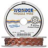Beading wire, Wonder Wiggle Wire®, stainless steel and nylon, brick red, 0.02-inch diameter. Sold per 15-foot spool.
