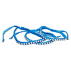 Bracelet, Chinese glass rhinestone / nylon / silver-finished brass, light blue and clear, 6mm wide with cupchain, adjustable up to 10 inches with macramé knot closure. Sold per pkg of 3.