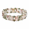 Bracelet, stretch, multi-gemstone (natural), round and rectangle, C grade, 7 inches. Sold individually.