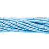 Bugle bead, Preciosa Czech glass, opaque sky blue, #3 with round hole. Sold per pkg of 1 hank.