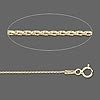 Chain, 14Kt gold, 1mm wheat, 18 inch. Sold individually.