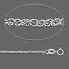 Chain, 14KtW white gold, 1.25mm Sparkling Singapore chain, 16 inches. Sold individually.