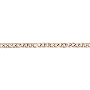 Chain, copper-finished steel, 3x2mm curb. Sold per pkg of 36 inches.