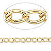 Chain, gold-plated brass, 6.5x4mm twisted oval cable. Sold per pkg of 5 feet.