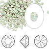 Chaton, Swarovski crystal rhinestone, Crystal Passions®, chrysolite opal, foil back, 2.4-2.5mm Xilion round (1028), PP18. Sold per pkg of 1,440 (10 gross).