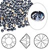 Chaton, Swarovski crystal rhinestone, Crystal Passions®, denim blue, foil back, 3-3.2mm Xilion round (1028), PP24. Sold per pkg of 12.