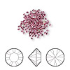 Chaton, Swarovski crystal rhinestone, Crystal Passions®, rose, foil back, 1.5-1.6mm Xilion round (1028), PP9. Sold per pkg of 144 (1 gross).