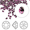 Chaton, Swarovski crystal rhinestone, amethyst, foil back, 3-3.2mm Xilion round (1028), PP24. Sold per pkg of 1,440 (10 gross).