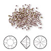 Chaton, Swarovski crystal rhinestone, crystal antique pink, foil back, 1.5-1.6mm Xilion round (1028), PP9. Sold per pkg of 1,440 (10 gross).