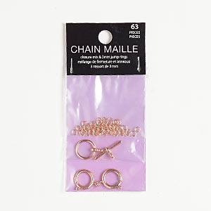"Clasp and jumpring, copper-finished ""pewter"" (zinc-based alloy), 3mm round / 12mm round toggle / 12mm springring, 22 gauge. Sold per pkg of 63."