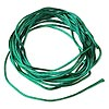 Cord, Satinique™, satin, dark green, 1mm mini. Sold per pkg of 10 feet.