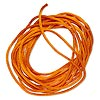 Cord, Satinique™, satin, orange, 2mm regular. Sold per pkg of 10 feet.