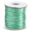 Cord, Satinique™, satin, turquoise blue, 1mm mini. Sold per 210-foot spool.