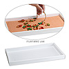 Display tray, plastic, white, 14-3/4 x 8-1/4 x 1 inches. Sold individually.