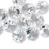 Drop, Swarovski crystal, crystal clear, 12x12mm faceted octagon pendant (6401). Sold per pkg of 144 (1 gross).
