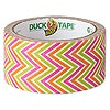 Duct tape, Duck Tape®, plastic / poly-cotton cloth / rubber, multicolored, 48mm wide with zigzag pattern. Sold per 10-yard spool.